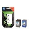 HP Pack cartuchos 21+22 negro y color SD367AE