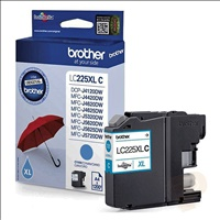 Brother LC-225XLC tinta cyan alta cap.