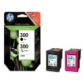 HP pack cartucho 300 negro+color  CN637EE
